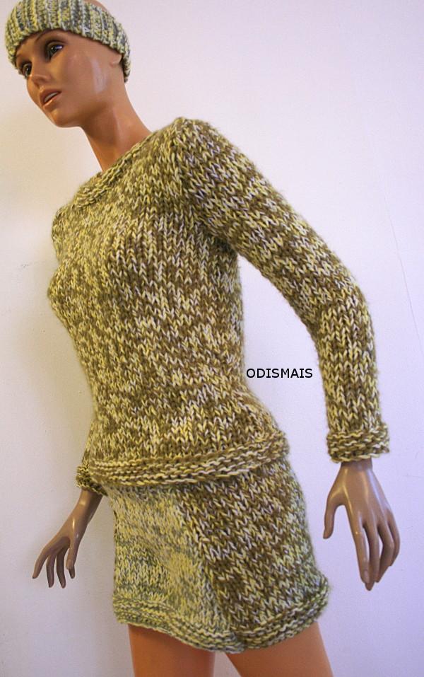 Tricot fait main jupe au tricot fait main mode femme by odismais - Tricot a la main ...
