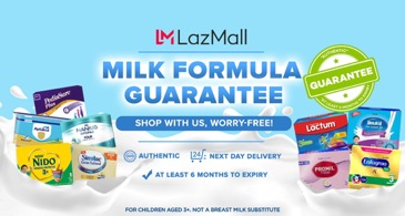 LazMall Milk Guarantee Program Ensures You're Only Buying Authentic and Fresh Milk Products from Lazada