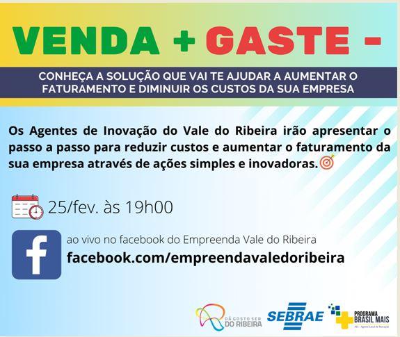 Sebrae promove palestra gratuita sobre inovação para empreendedores do Vale do Ribeira