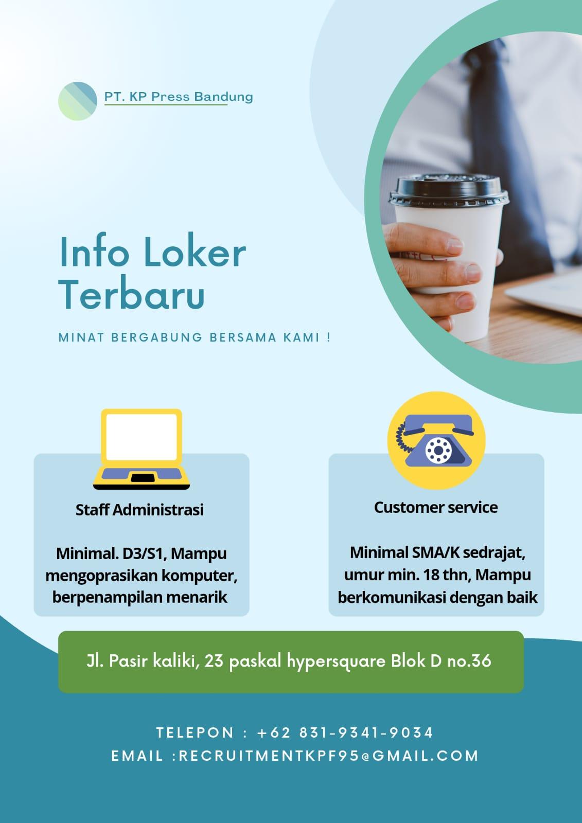 Lowongan Kerja PT. KP Press Bandung Agustus 2021