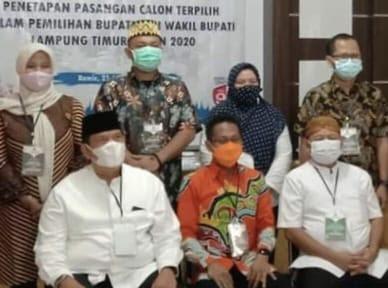 KPU Lampung Timur Tetapkan Pasangan Dawam-Azwar sebagai Bupati dan Wakil Bupati Terpilih