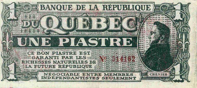 billet de banque quebec