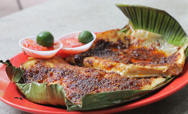 Stingray fish with sambal