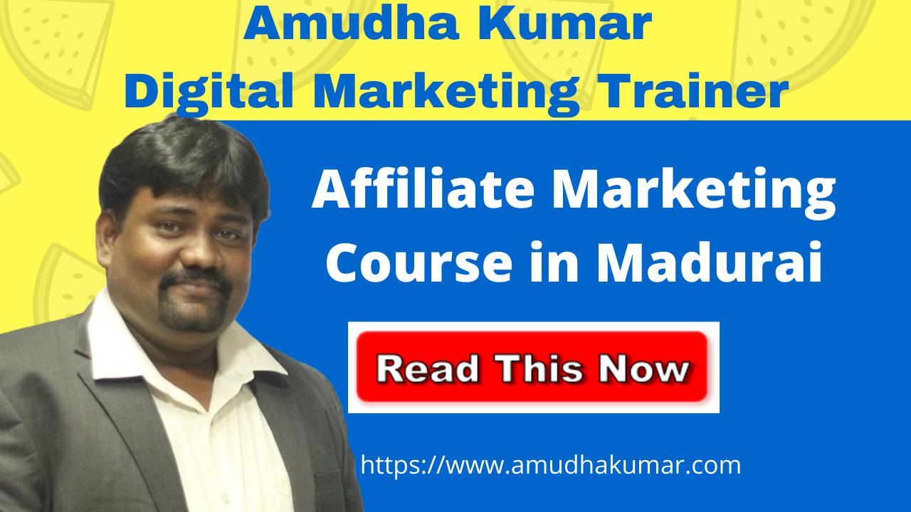 Affiliate Marketing Course in Madurai