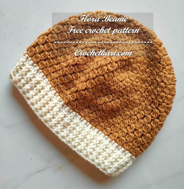 Flora beanie free pattern crochetkari