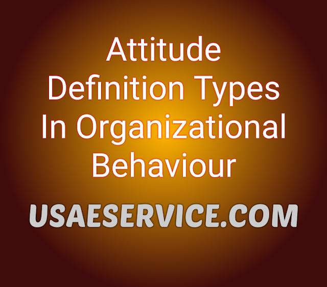 Attitude Definition Types Organizational Behaviour