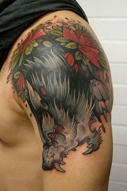 erkek omuz dövmeleri man shoulder tattoos 25