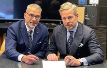 Saverio Campo, presidente di GC Infissi e Marco Cipriano, ceo di Sciuker Frames