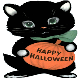Happy Halloween cat clip art 2016