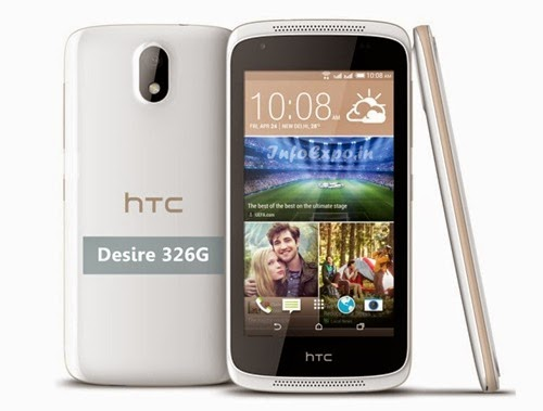 HTCDesire 326G: 4.5 inch,1.2 GHz Quad-core Android Budget Phone Specs, Price