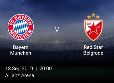LIVE MATCH: Bayern Munchen V Red Star Belgrade UEFA Champions League 18/09/2019