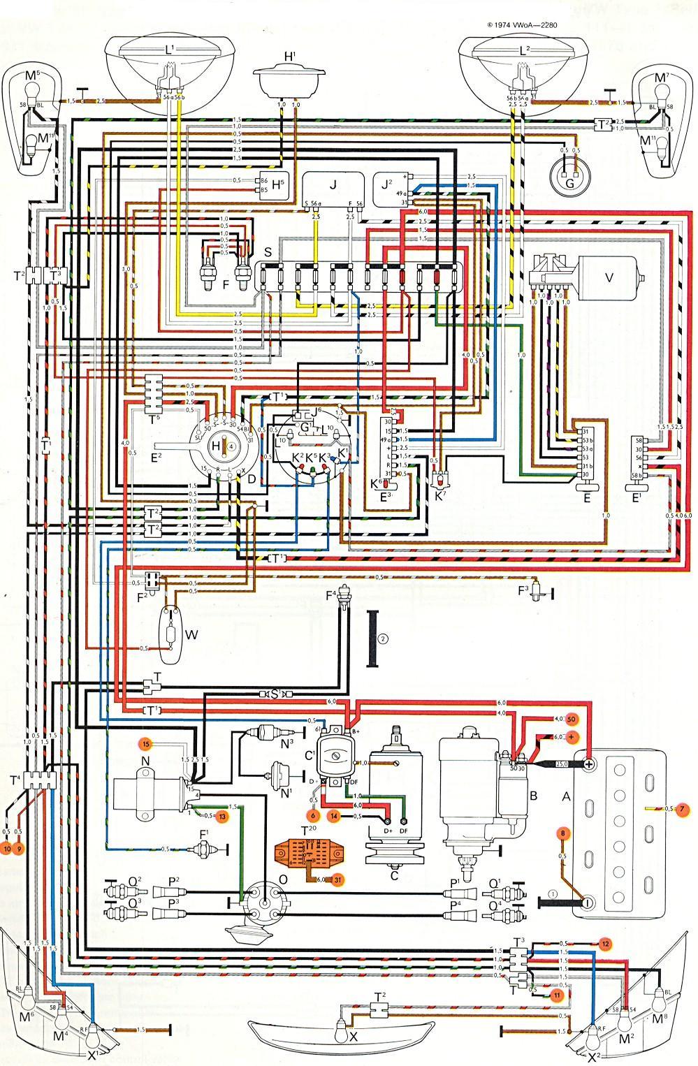 1972 Vw Beetle Engine Diagram - wiring diagram on the net  Vw Beetle Wiring Diagrams on