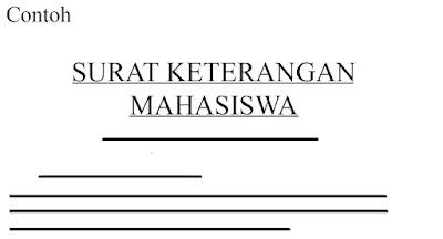 Contoh Surat Keterangan Mahasiswa Aktif Kuliah  6 Contoh Surat Keterangan Mahasiswa Aktif Kuliah (Terkompleks)