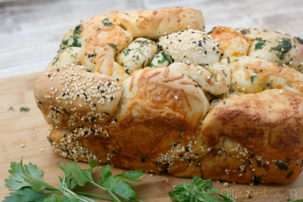 Pull-Apart Bread with Cheese, Herbs, and Seeds