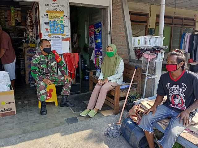 Babinsa Bersama Perangkat Desa Lakukan Patroli Bersama