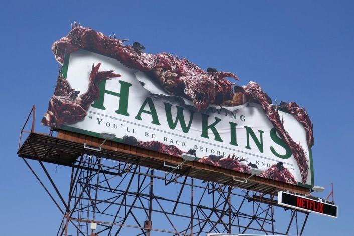 Stranger Things 3 Hawkins monster billboard