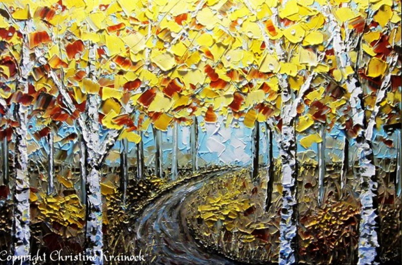 Im genes arte pinturas paisajes pintura moderna con for Imagenes de cuadros abstractos con texturas