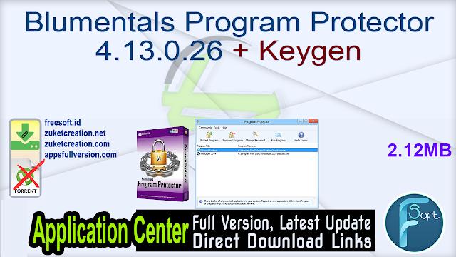 Blumentals Program Protector 4.13.0.26 + Keygen
