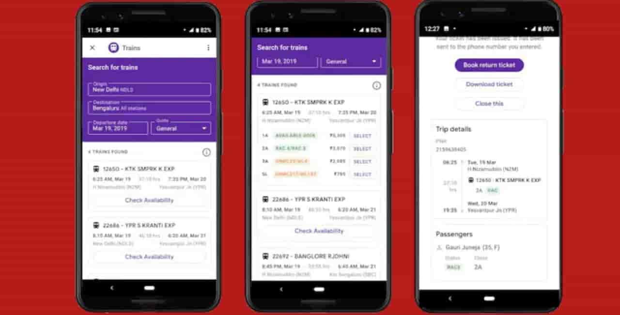 Spoorkaartjie bespreking is nou direk vanaf Google Pay, dit is die manier
