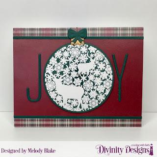 Stamp/Die Duos: Deer Ornament, Custom Dies: Long & Lean Letters, Paper Collection: Rustic Christmas