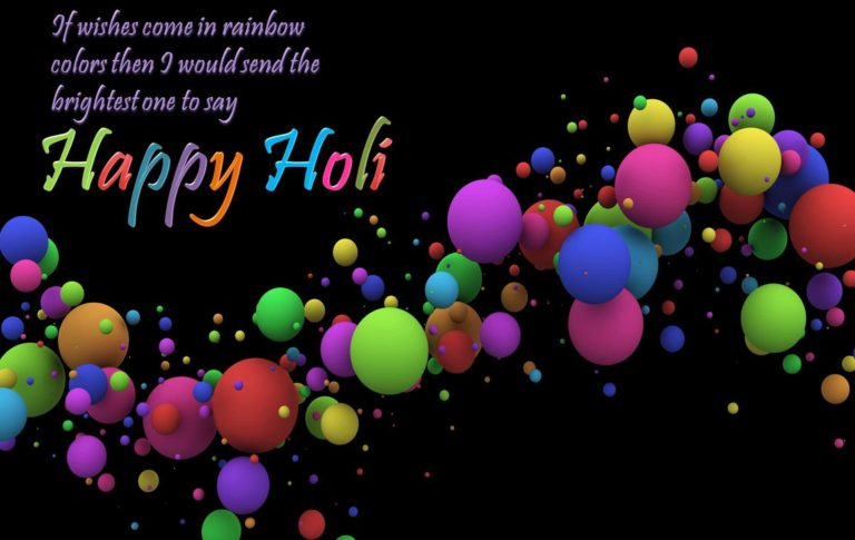 holi wishes wallpaper and greetings 768x485 - Best Shayari images of holi 50+