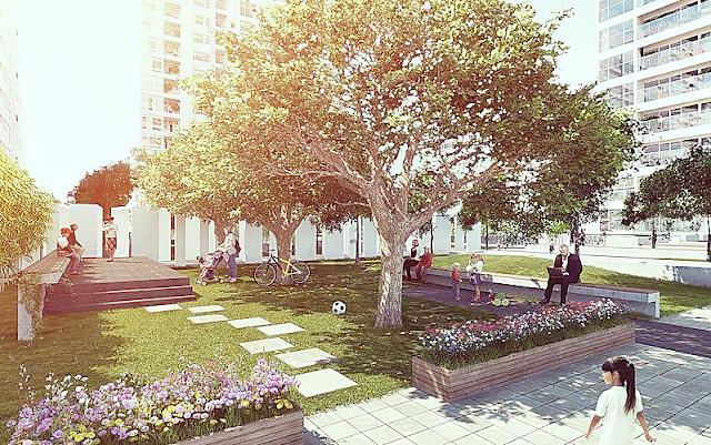 Không gian xanh chung cư Vinata Tower