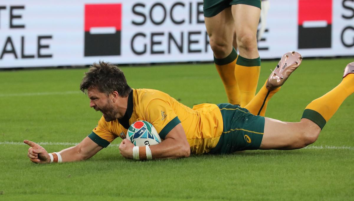 Adam Ashley-Cooper - Australia centre scores a try on 47 minutes.