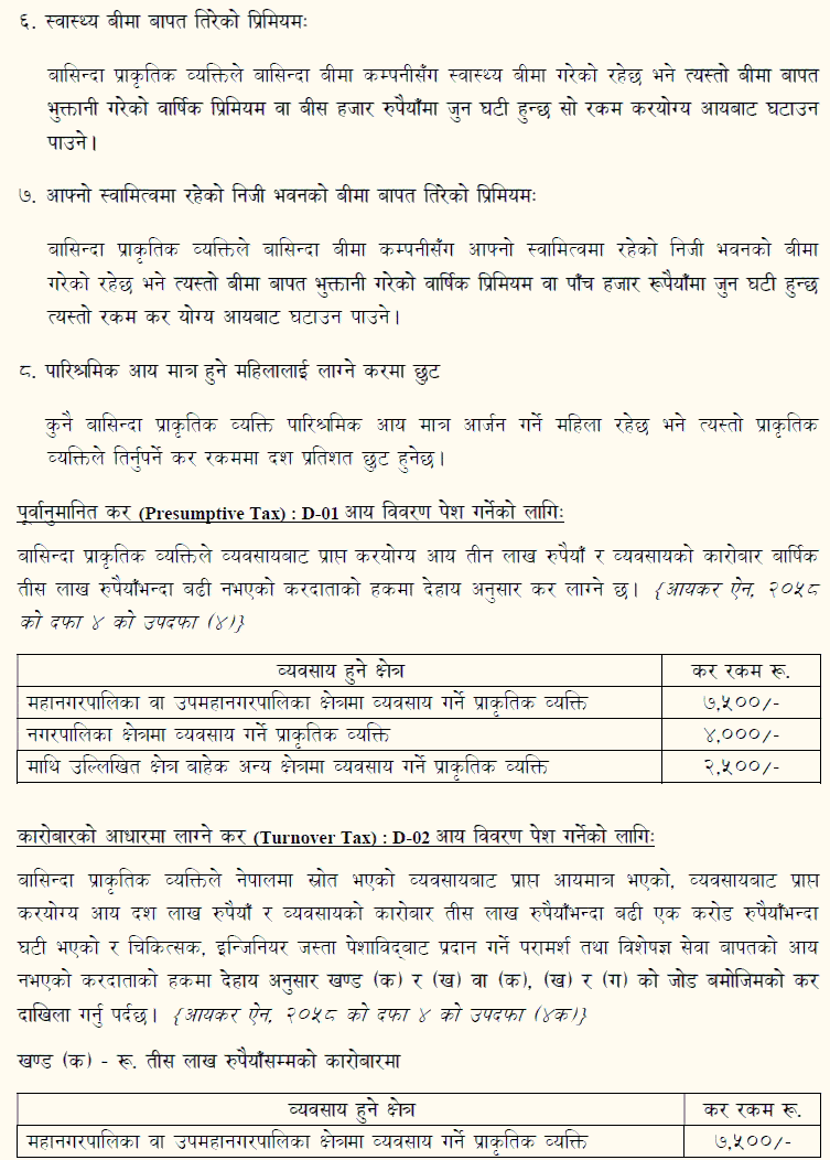 New Tax Rate in Nepal for Fiscal Year 2078-2079 (2021-22)