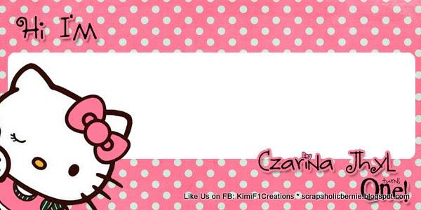 Hello Kitty Name Tags