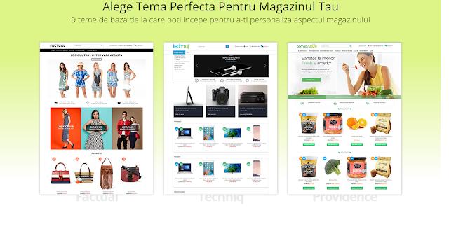 Alege o tema perfecta pentru magazinul tau online
