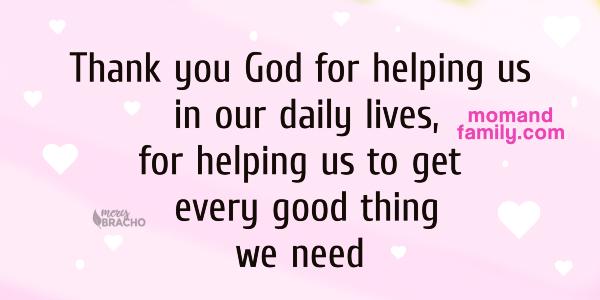 nice short prayer, moms prayer for her family thank you God for my family