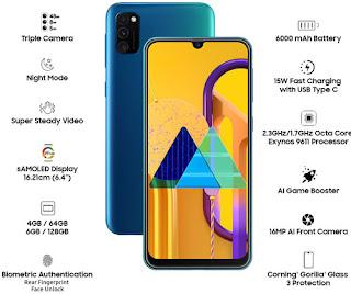 Samsung Galaxy M30s (Blue 6GB RAM 128GB Storage)