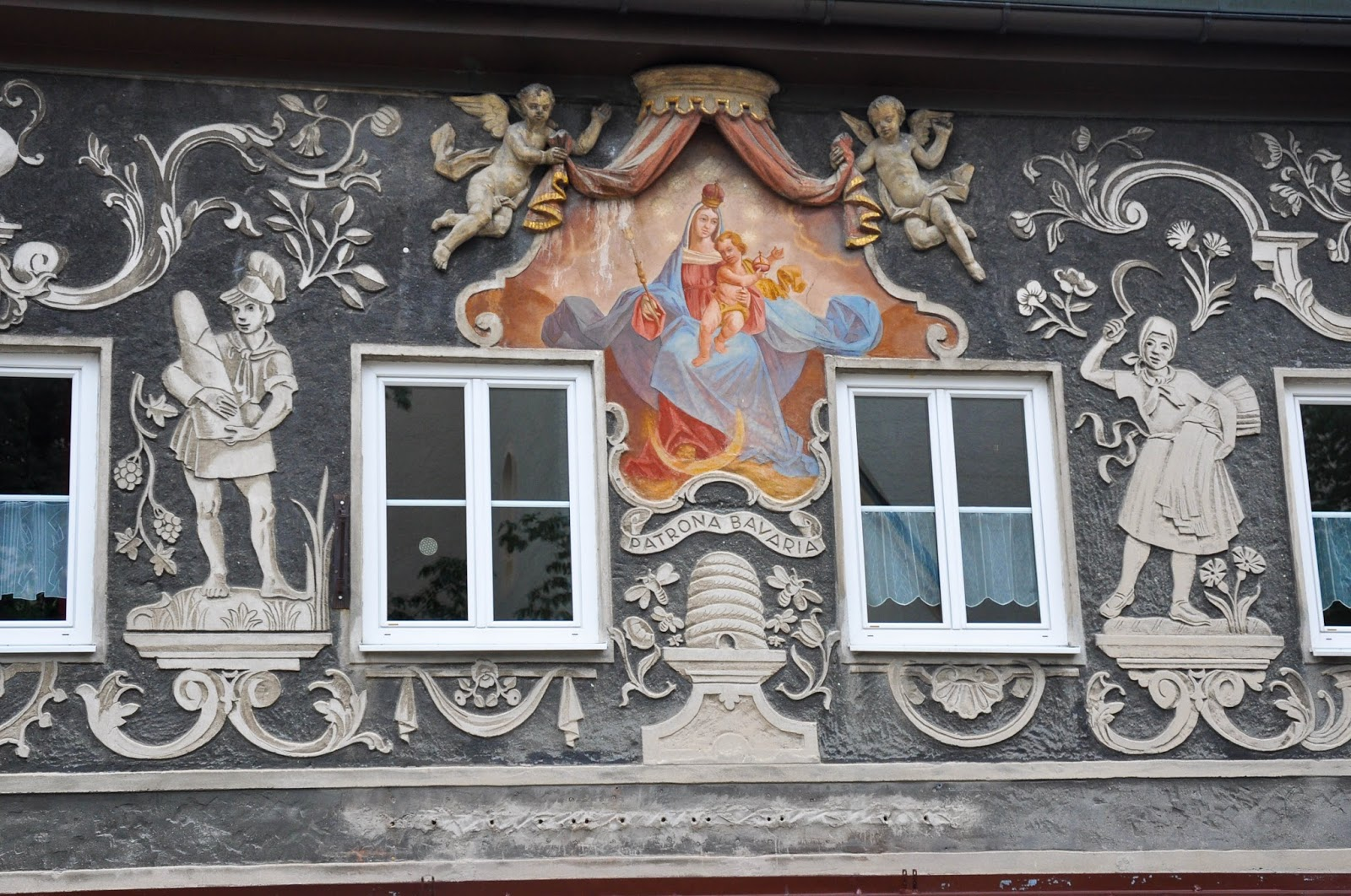 Painted house, Garmisch-Parternkirchen, Bavaria, Germany