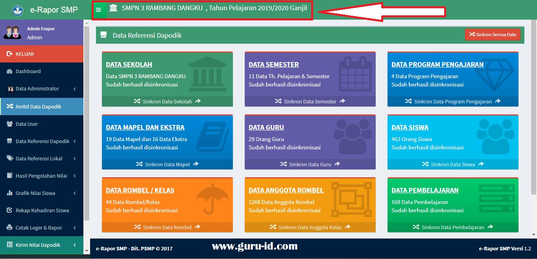 gambar aplikasi rapor kurikulum 2013 SMP revisi