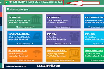 Aplikasi erapor SMP Semester Ganjil 2020-2021 Resmi dari Kemendikbud