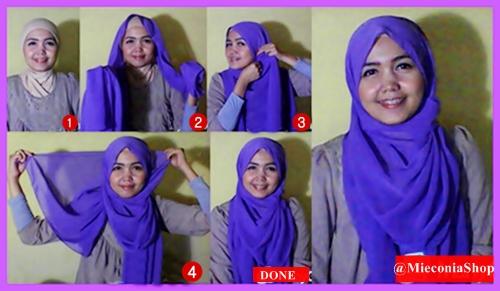 Tutorial Cara Memakai Jilbab Pashmina Tanpa Ciput Ninja Yang Mudah Dan Simpel