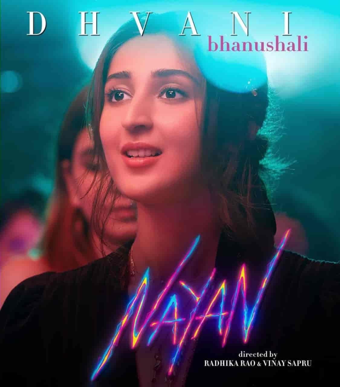 Nayan cute hindi song image features Dhvani Bhanushali