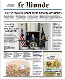 lemonde, le monde magazine 13 October 2020, le monde magazine, le monde news, free pdf magazine download.