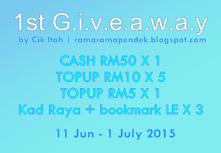 First Giveaway By Cik Itah