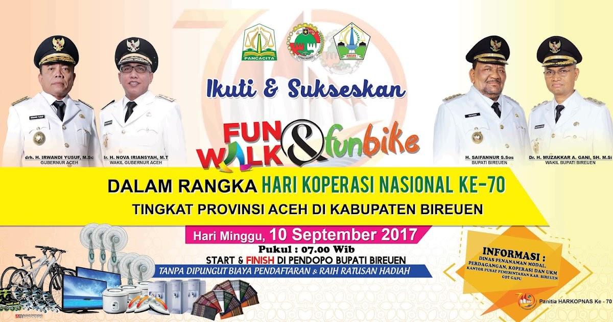 Desain Baliho Fun Walk & Fun Bike (Hari Koperasi Nasional ...