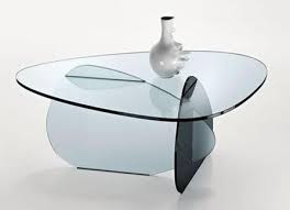 Custom Shaped Glass Table