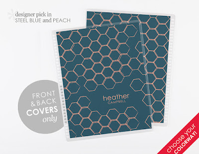 Erin Condren Life Planner Covers 2-for-1 sale! Custom colorway Honeycomb design!
