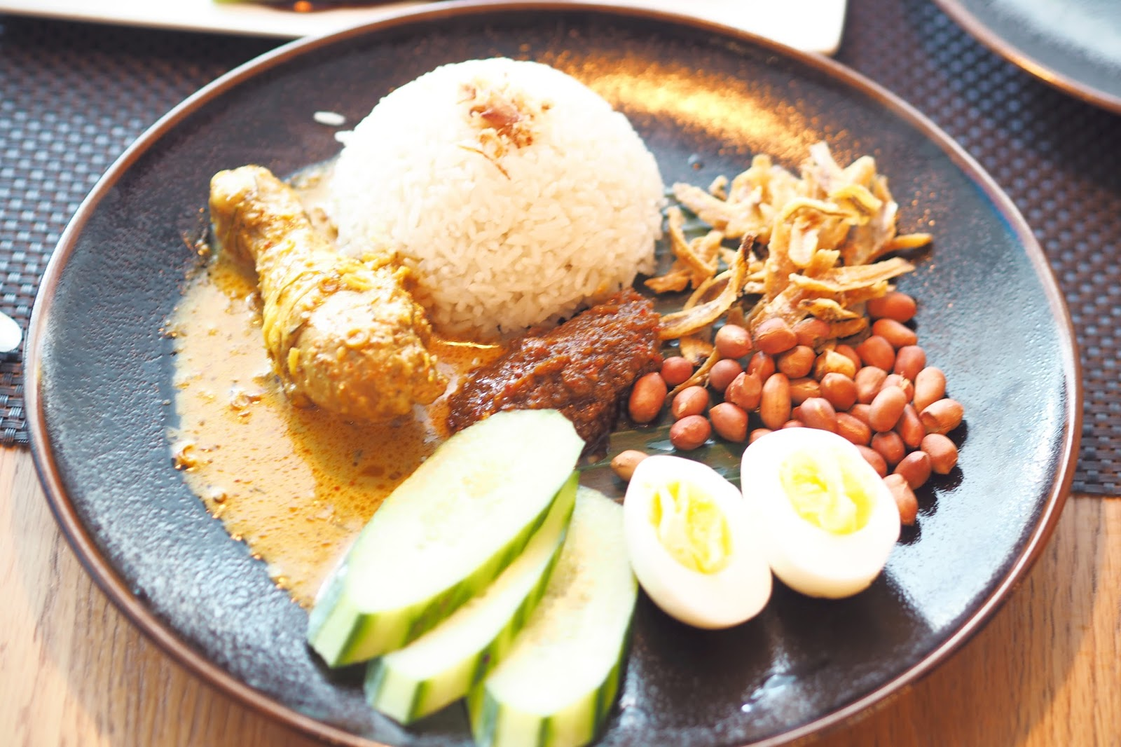 Nasi Lemak with chicken and rice