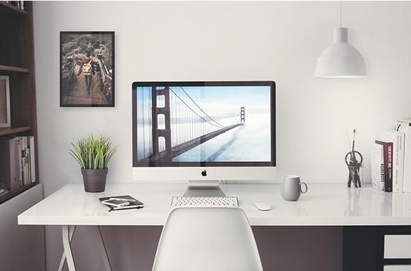 MockUp de una oficina con iMac 5k en formato PSD