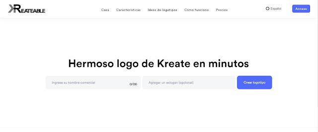 Kreateable: De todas es mi herramienta preferida para diseñar logos en línea.