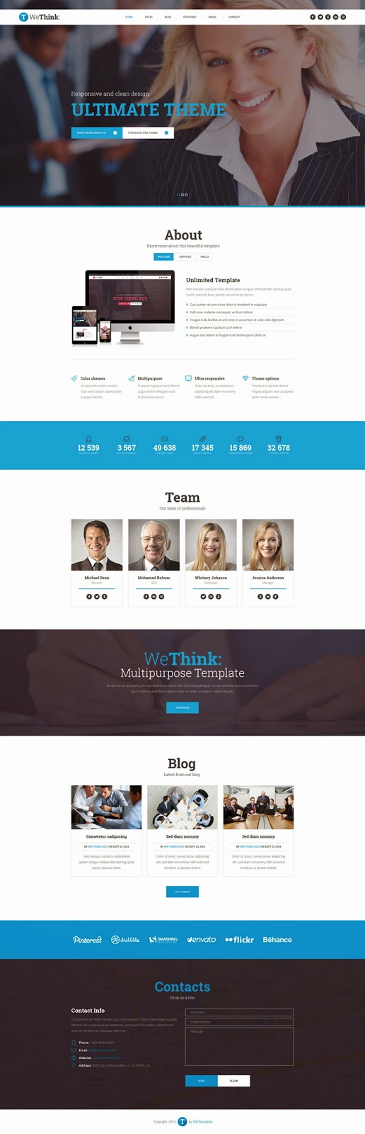 We Think Responsive Multipurpose PSD Template