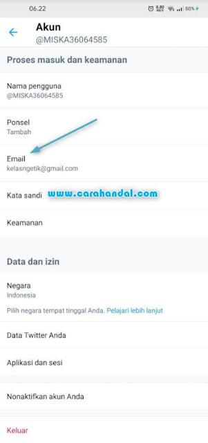 Cara Mengganti Email Twitter Lewat HP