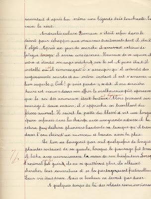 Cahier de devoirs Lotus, élève Adrienne G., âgée de 11 ans, cours moyen, 1910 (collection musée)