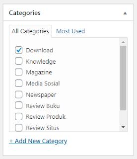 34 Categories Post Editor Wordpress