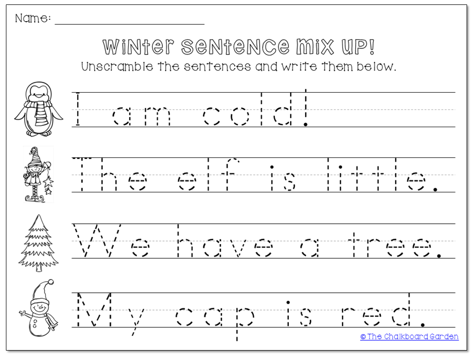 Sentence Worksheets For Kindergarten Free Worksheets Library ...